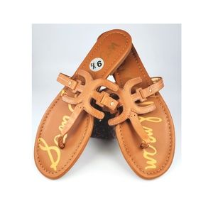 Sam Edelman Cara Thong Sandals in Tan Color NWOT